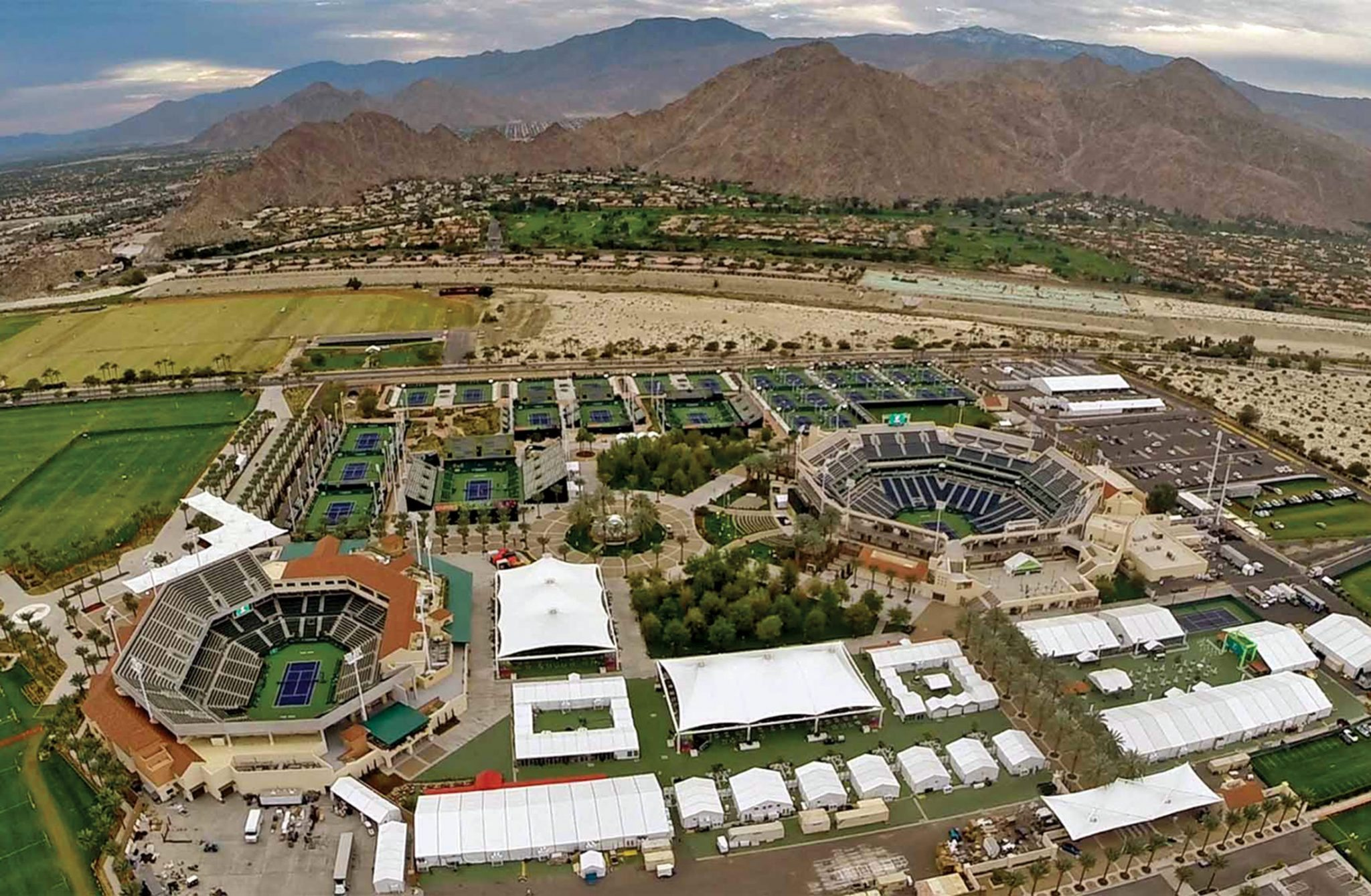 Indian Wells Tennis Garden Aerial View