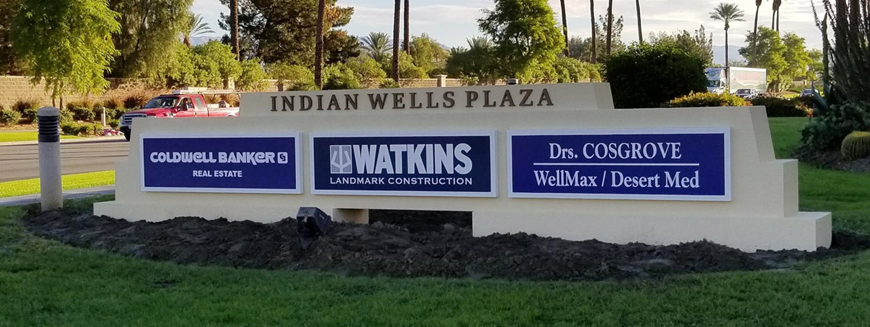 Indian Wells Plaza Banner