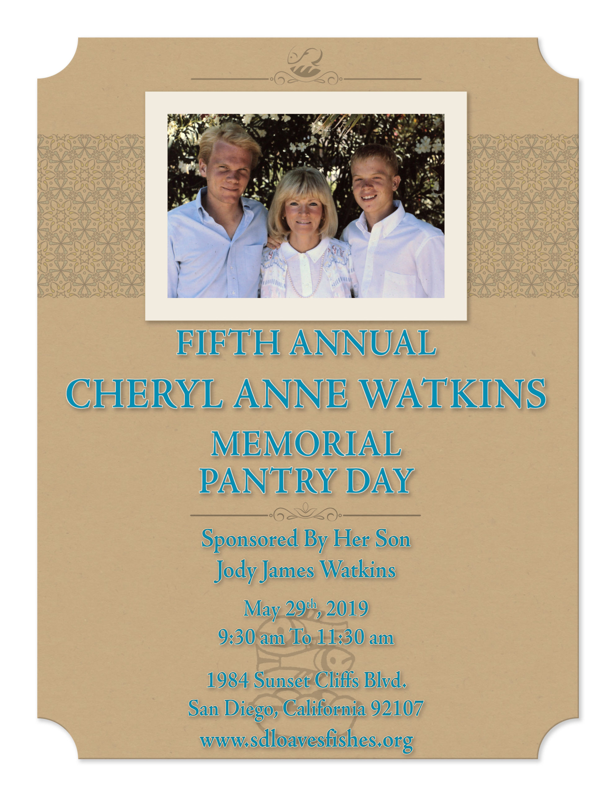5th Annual Cheryl Anne Watkins Memorial Pantry Day